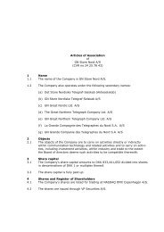 Articles of Association of GN Store Nord A/S (CVR no 24 25 78 43) 1 ...