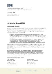 Q2 Interim Report 2006 - GN Store Nord
