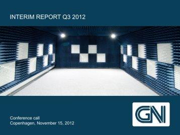 interim report q3 2012 - GN Store Nord