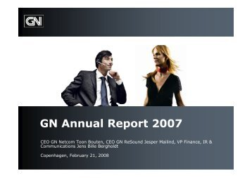 Download presentation (PDF) - GN Store Nord