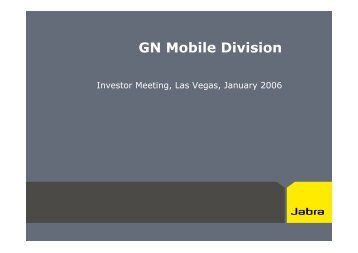 GN Mobile Division - GN Store Nord