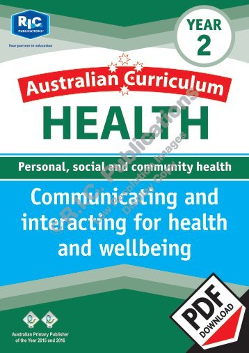 RIC-20007 AC Health (Year 2) Communicating for health and wellbeing