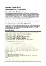 gotomaxx software GmbH Onlinelizenzierung Dokumentation