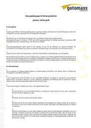 Nutzungsbedingungen für Softwareprodukte der gotomaxx software ...