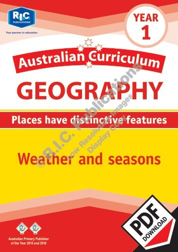 RIC-20054 Australian Curriculum Geography (Yr 1) Weather and seasons