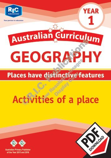 RIC-20055 Australian Curriculum Geography (Yr 1) Activities of a place