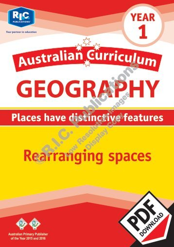 RIC-20056 Australian Curriculum Geography (Yr 1) Rearranging spaces