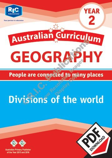 RIC-20057 Australian Curriculum Geography (Yr 2) Divisions of the world
