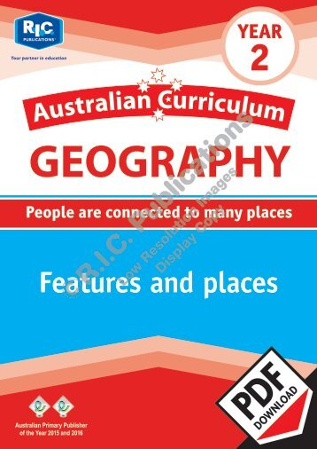 RIC-20058 Australian Curriculum Geography (Yr 2) Features and places