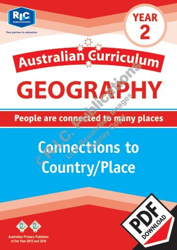 RIC-20059 Australian Curriculum Geography (Yr 2) Connections to a Country or place