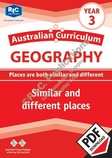 RIC-20069 Australian Curriculum Geography (Yr 3) Similar and different places