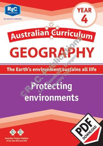 RIC-20074 Australian Currciulum Geography (Yr 4) Protecting environments