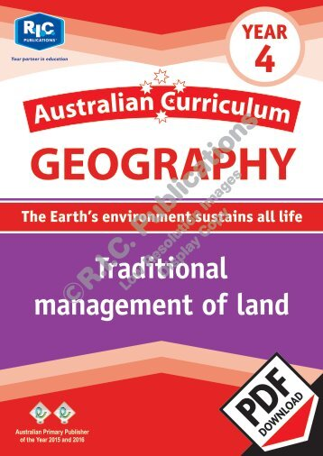 RIC-20075 Australian Currciulum Geography (Yr 4) Traditional management of land