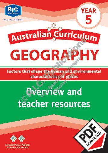 RIC-20079 Australian Curriculum Geography (Yr 5) Overview and teacher resources