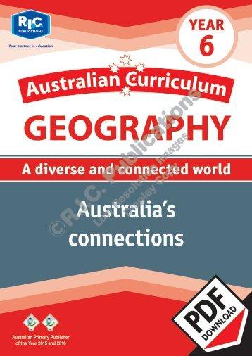 RIC-20091 Australian Curriculum Geography (Yr 6) Australias connections