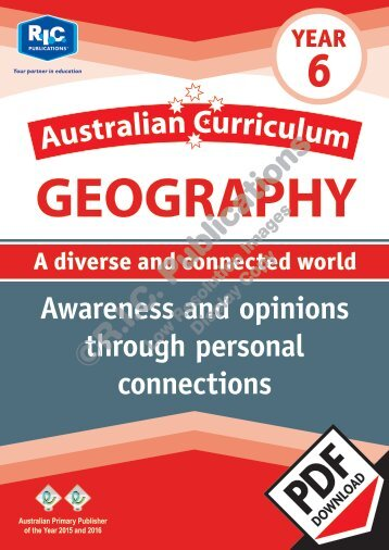 RIC-20092 Australian Curriculum Geography (Yr 6) Awareness and opinions