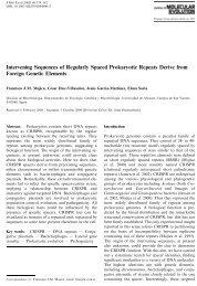 Intervening Sequences of Regularly Spaced Prokaryotic Repeats ...
