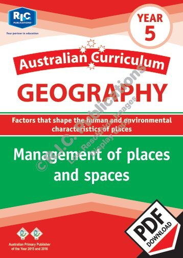 RIC-20083 Australian Curriculum Geography (Yr 5) Management of places and spaces