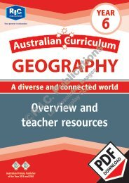 RIC-20086 Australian Curriculum Geography (Yr 6) Teacher resources
