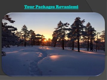 Tour Packages Rovaniemi