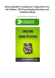 Cracking The Coding Interview 150 Programming Questions And Solutions Ebook