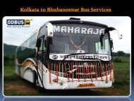 Kolkata to Bhubaneswar Bus Services