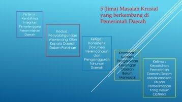 5 masalah pemerintah daerah