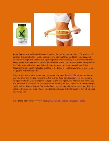 Keto X Factor For Weight Loss Supplement
