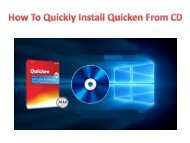 How To Quickly Install Quicken From CD