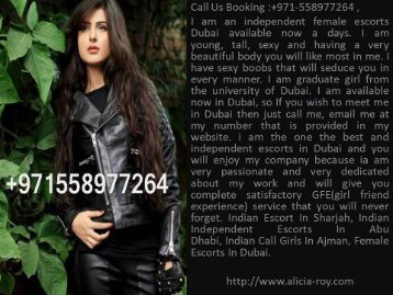 Alicia Roy Independent Indian Escort In Hatta Dubai +971-558977264
