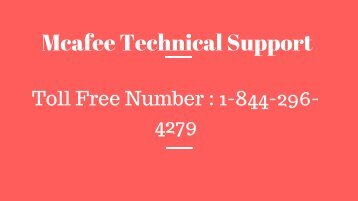 Mcafee Technical Support  ppt
