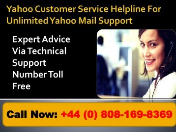 Yahoo Customer Service Helpline for Unlimited Yahoo Mail Support