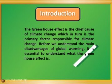 disadvantages of the Greenhouse effect pdf