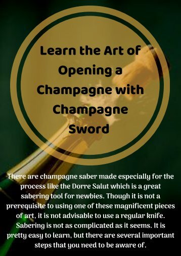 Saber a Champagne with Champagne sword Perfectly