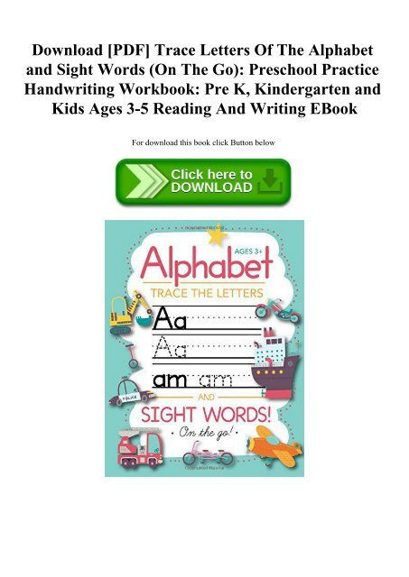 Download [PDF] Trace Letters Of The Alphabet and Sight Words
