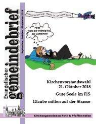 Evang.-luth. Kirchengemeinde Roth - Gemeindebrief Sept. 2018 - Nov. 2018