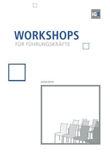 iGZ-Workshops für Führungskräfte