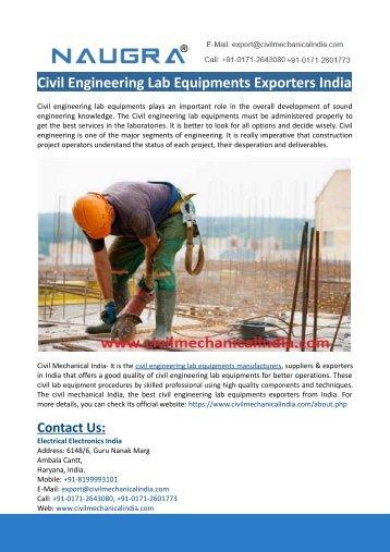 Civil Engineering Lab Equipments Exporters India