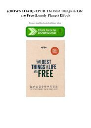 ((DOWNLOAD)) EPUB The Best Things in Life are Free (Lonely Planet) EBook