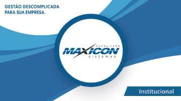 Institucional Maxicon - Franquia MT