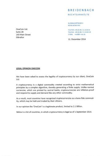 OneCoin_20Legal_20Opinion_20Rechtsanwälte_20Germany_20December_202014