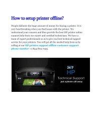 How to setup printer offline