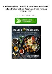 Ebooks download Masala & Meatballs Incredible Indian Dishes with an American Twist Forman EPUB  PDF