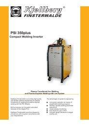 PSI 350plus Compact Welding Inverter - Kjellberg Finsterwalde