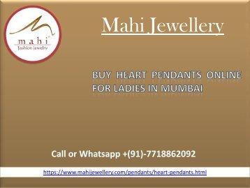 Buy Heart Pendants online for Ladies in Mumbai
