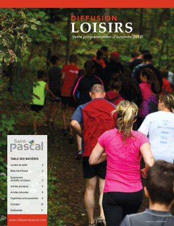Diffusion Loisirs automne 2018
