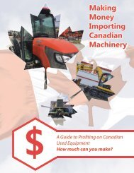 Making Money Importing Canadian Machines