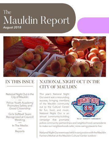 August 2018 Mauldin Report