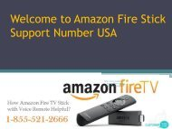 Amazon Fire Stick Support Number USA 1-855-521-2666