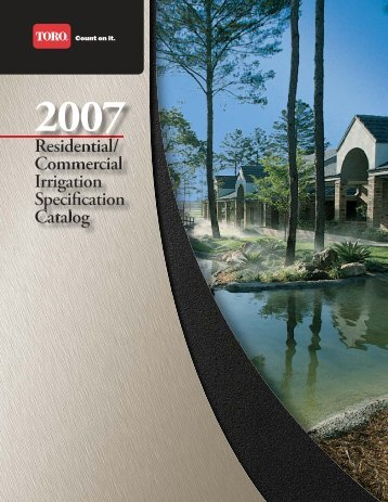 Residential/ Commercial Irrigation Specification Catalog - bacons.ro
